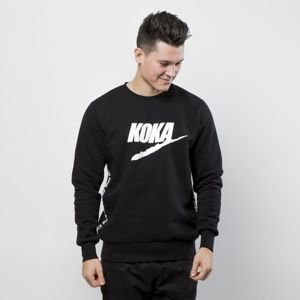 Koka sweatshirt Fake-Tape Crewneck black