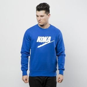 Koka sweatshirt Fake-Tape Crewneck navy
