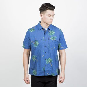 Levi's Skatebording Shirt Skate SS Button Down watercolor palm bright colbat
