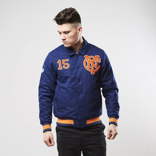 Majestic Athletic Reeshard Full Melton Collar Bomber navy MNC2391NL