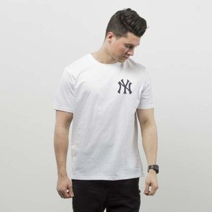 Majestic Athletic t-shirt Tovey Mid Longline Logo Carrier Tee NY Yankees white MNY2711WB