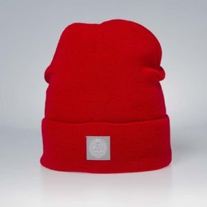 Mass Denim Base Beanie red