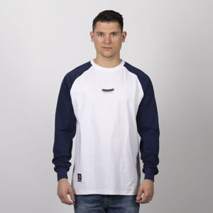 Mass Denim Classics Small Logo Longsleeve white / navy