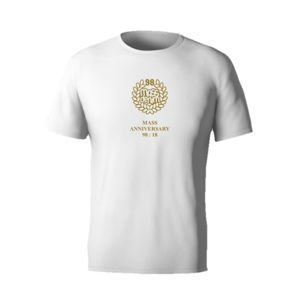 Mass Denim Golden Crown T-shirt white 20TH ANNIVERSARY