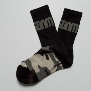Mass Denim Half Camo Socks black