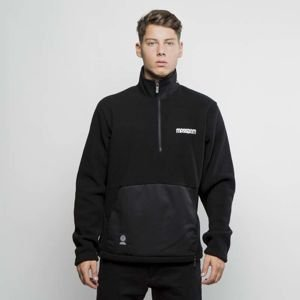 Mass Denim Half Zip Tracktop Polar Fleece Play Off black