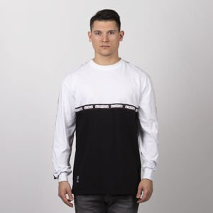 Mass Denim Line Longsleeve white / black