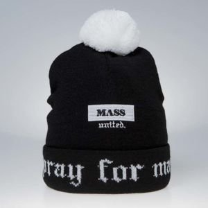 Mass Denim Plate Beanie black