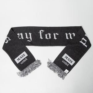 Mass Denim Plate Scarf black