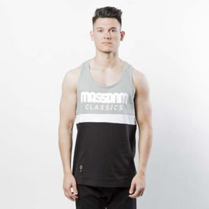 Mass Denim Respect Tank Top light heather grey / black