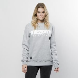 Mass Denim Sweatshirt Crewneck Classics WMNS light heather grey