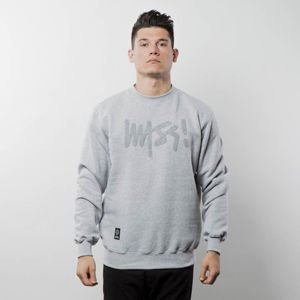 Mass Denim Sweatshirt Crewneck Edge light heather grey