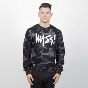 Mass Denim Sweatshirt Crewneck Signature black camo