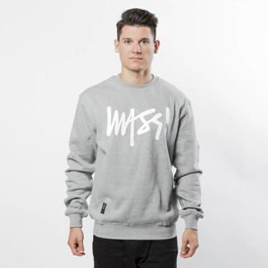 Mass Denim Sweatshirt Crewneck Signature light heather grey