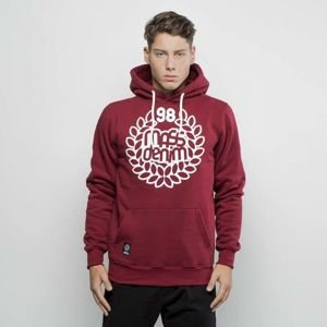 Mass Denim Sweatshirt Hoody Base claret