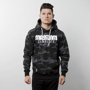 Mass Denim Sweatshirt Hoody Classics black camo