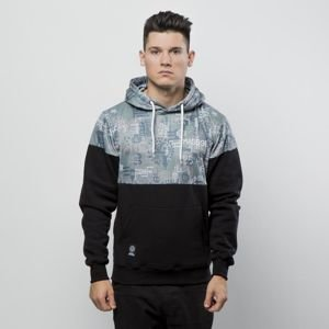 Mass Denim Sweatshirt Hoody Pixel black / multicolor