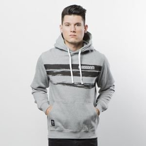 Mass Denim Sweatshirt Hoody Traces light heather grey