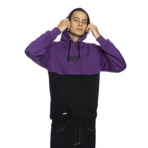 Mass Denim Sweatshirt Result Hoody purple/black