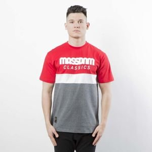 Mass Denim T-shirt Respect red / dark heather grey