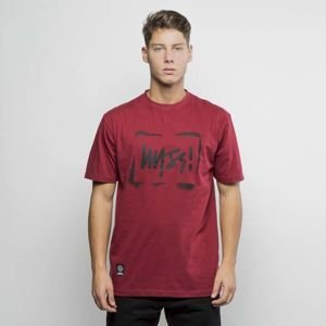 Mass Denim T-shirt Street Sign claret