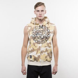 Mass Denim sweatshirt Base Zip Sleeveless Hoody desert camo