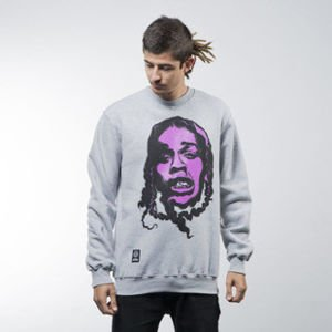 Mass Denim sweatshirt Harlem Legend crewneck light heather grey