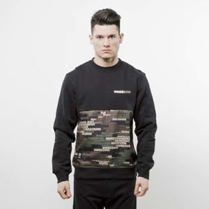 Mass Denim sweatshirt Phat Camo Crewneck black