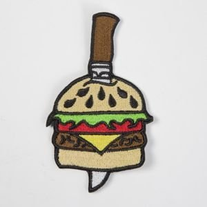 Mass Denim x Snecz patch  Spoko Szama Burger multicolor Limited Edition