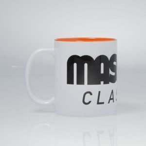 Massdnm  Classics Logo Mug white / orange