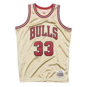 Mitchell & Ness Chicago Bulls #33 Scottie Pippen gold Swingman Jersey QUICKSTRIKE LIMITED EDITION