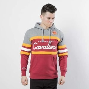Mitchell & Ness Cleveland Cavaliers heather grey / burgundy Head Coach Hoody