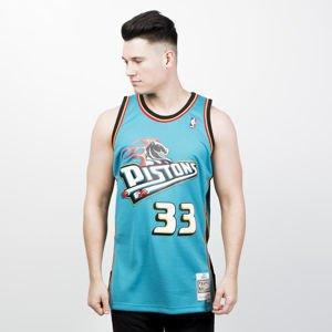 Mitchell   Ness Detroit Pistons  33 Grant Hill teal   black Swingman Jersey b9ddbe71b