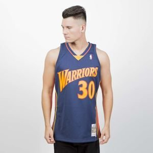 Mitchell & Ness Golden State Warriors #30 Stephen Curry navy Swingman Jersey