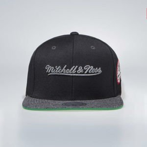 Mitchell & Ness Logo M&N Snapback Cap black / grey Melange Patch