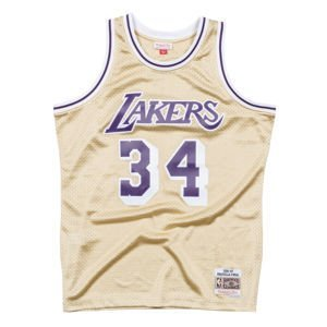 Mitchell & Ness Los Angeles Lakers #34 Shaquille O'Neal gold Swingman Jersey QUICKSTRIKE LIMITED EDITION