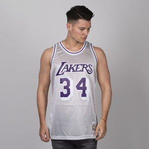 Mitchell & Ness Los Angeles Lakers #34 Shaquille O'Neal platinum Platinum Swingman Jersey