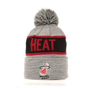 Mitchell & Ness Miami Heat Beanie grey/black Team Tone Knit