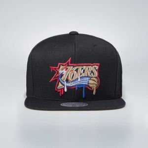 Mitchell & Ness Philadelphia 76ers Snapback Cap black Dripped