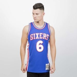 Mitchell & Ness Philadelphia Sixers #6 Julius Erving blue Swingman Jersey