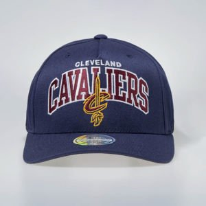 Mitchell & Ness Snapback Cap Cleveland Cavaliers navy NBA Team Arch Pinch Panel 110 SB