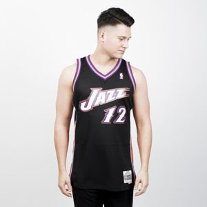 Mitchell & Ness Utah Jazz #12 John Stockton black/pink Swingman Jersey
