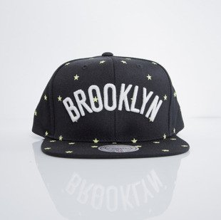 Mitchell & Ness cap snapback Brooklyn Nets black GITD Starry Night VU42Z
