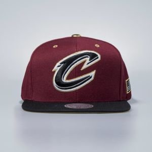 Mitchell & Ness cap snapback Cleveland Cavaliers burgundy Gold Tip