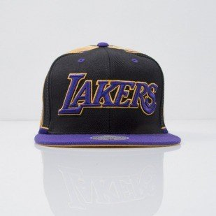 Mitchell & Ness cap snapback Los Angeles Lakers black Team Short Jersey VF64Z