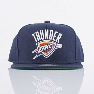 Mitchell & Ness cap snapback Oklahoma City Thunder navy WOOL SOLID NL99Z
