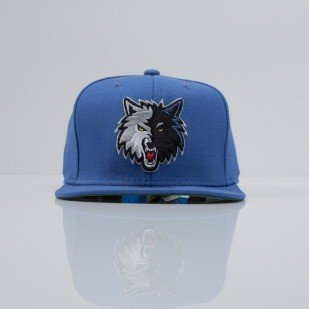 Mitchell & Ness cap snapback Timberwolves blue WOOL SOLID NZ979