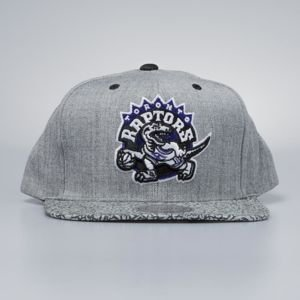 Mitchell & Ness cap snapback Toronto Raptors grey / black Elephant Crack