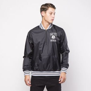 Mitchell & Ness jacket Brooklyn Nets black 1/4 Zip Nylon Pullover