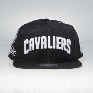 Mitchell & Ness snapback cap Cleveland Cavaliers black 059VZ TEAM LOGO HISTORY